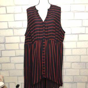 Torrid striped tunic